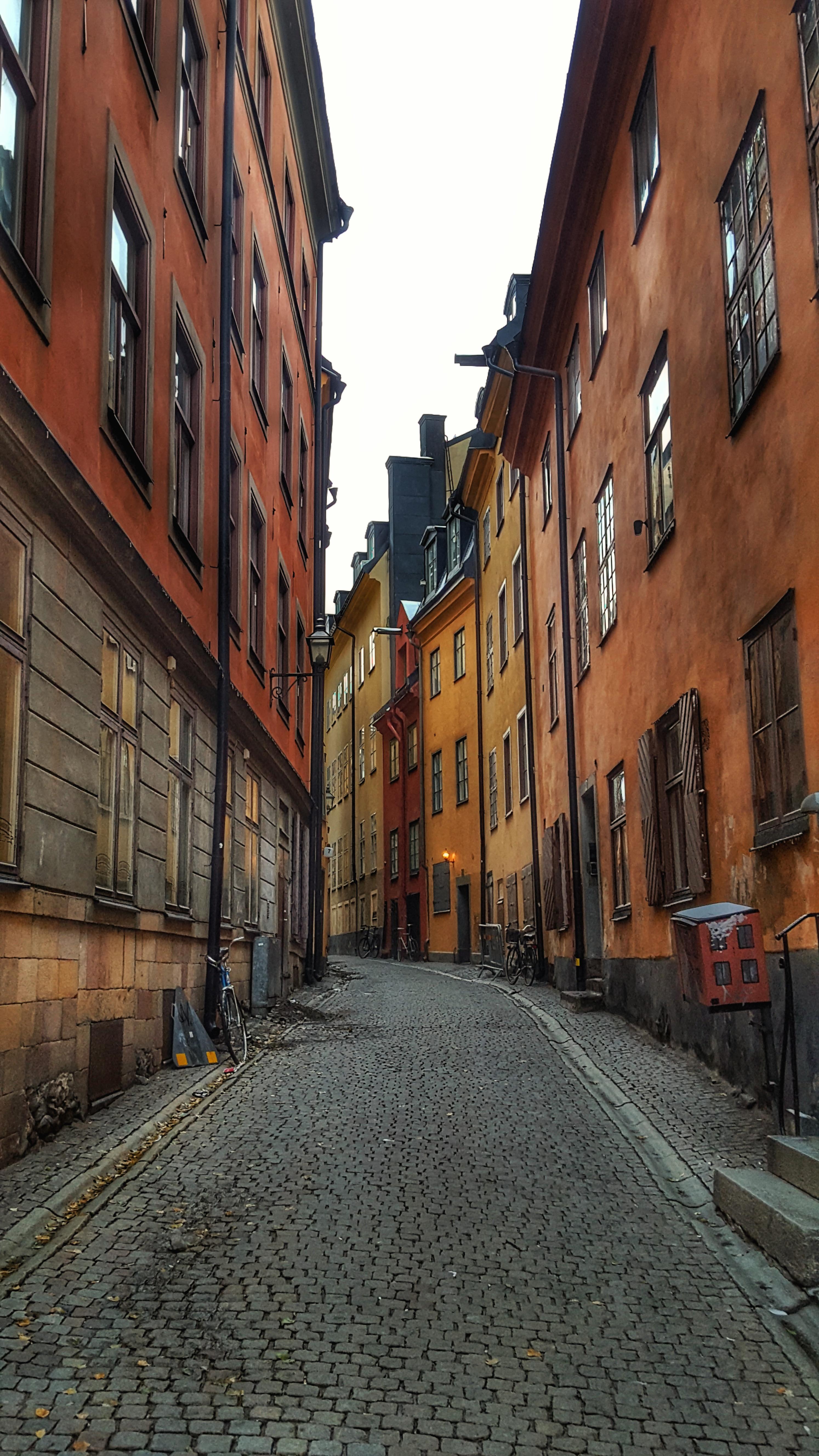 Street in Gamla Stan (Old Town), Stockholm